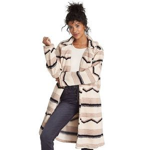 Billabong Montreal Longline Fleece Jacket Coat L